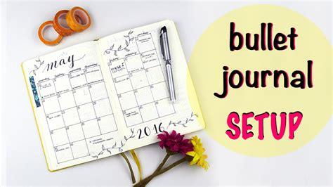 bullet journal setup my bullet journal setup youtube