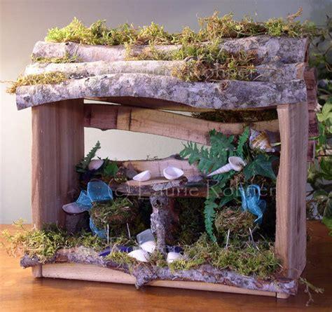 Handmade Fairies For Sale - woodland house handmade custom sculpted nature