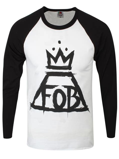 Nothing But Black Shirt fall out boy nothing but s black white fob