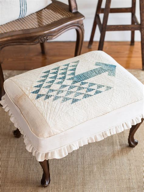 how to cover an ottoman how to slipcover an ottoman hgtv