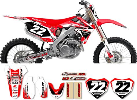 Decal Crf Kode 011 015 honda zeronine graphic kit targa2 white
