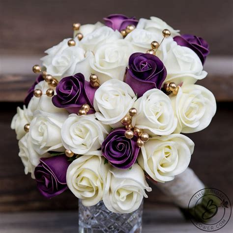 Wedding Bouquet And Gold by Purple Wedding Bouquet Gold Bridal Bouquet Purple And Gold