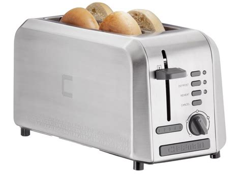 Toaster Price Chefman 4 Slice Wide Slot Stainless Steel Rj31 Ss4l
