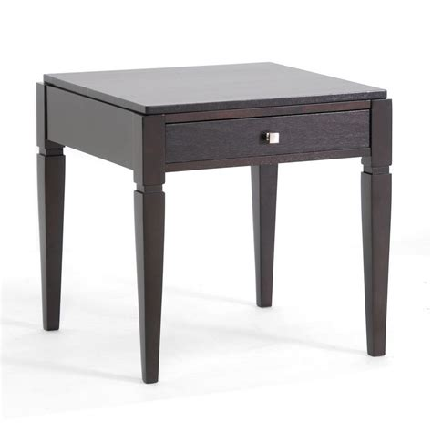 Baxton Studio Haley Black Wood Modern End Table With Living Room End Tables With Drawers
