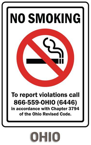 no smoking sign called ohio no smoking sign by safetysign com r5730