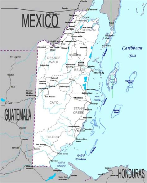 map of mexico and belize map of mexico near belize