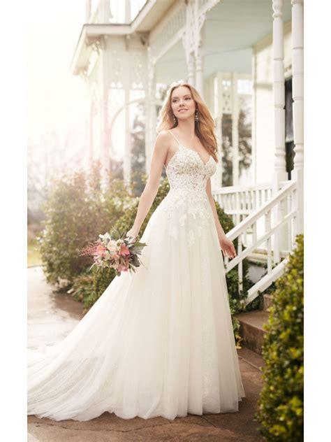 Spaghetti A Line Lace Dress a line spaghetti straps lace wedding dresses bridal gowns