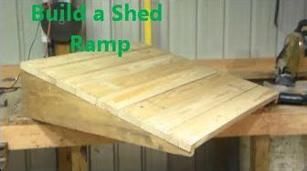 build  curb ramp youtube shed ramp building