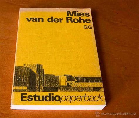 libro mies van der rohe mies van der rohe estudio paperback gustavo comprar libros de arquitectura en