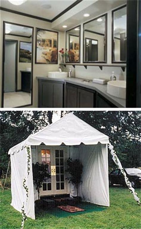 portable bathroom rentals for weddings luxe loos porcelain kohler sinks and full length mirrors