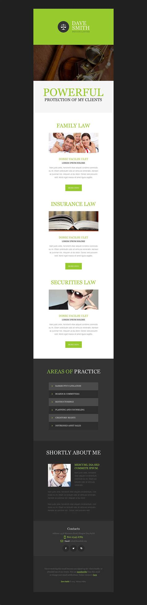 law firm newsletter template 53195
