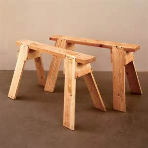 back to basics sawhorses woodworking plan from wood magazine