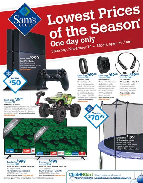 Sam S Club Gift Card Sale - live sam s club holiday celebration sale ad starts nov 14 shopportunist