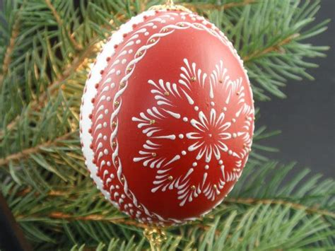 christmas ornament from duck egg traditional christmas