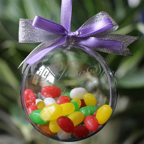 10cm plastic christmas decorations hanging ball bauble