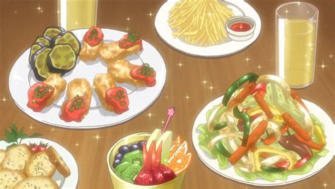 Anime Food by Itadakimasu Anime Feast With Bruschetta Stir Fry