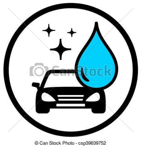 Auto Symbol by Auto Symbol Waschen Blaues Auto Symbol Tropfen