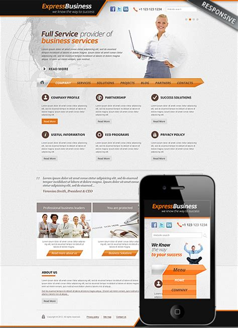corporate express templates success business responsive theme