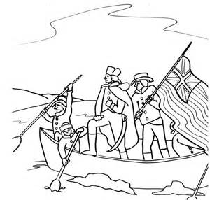 Crossing The Delaware River Coloring Page Sketch sketch template