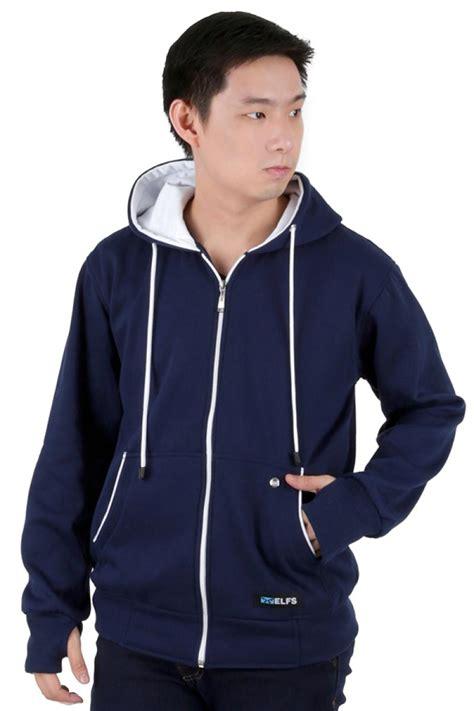 jual hoodie biru dongker sweater tunic