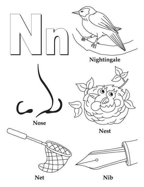 Letter N Coloring Pages Selfcoloringpages Com Coloring Pages Free N