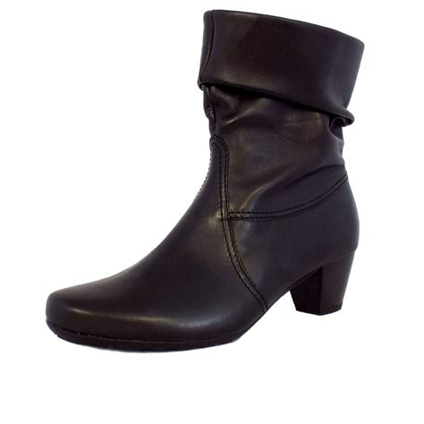 gabor boots eclectic calf high boots in black