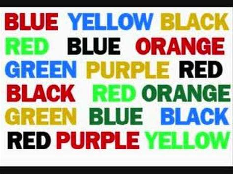 how to say color in say the color not the word