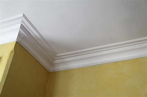 Styrofoam Crown Molding Bloombety Foam Crown Molding With Bright Yellow Walls