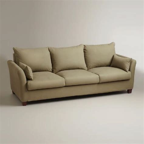 luxe sofa world market sage luxe 3 seat sofa slipcover world market
