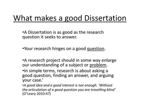 research question dissertation ppt what makes a dissertation powerpoint