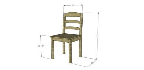 free plans to build a dining chair 1