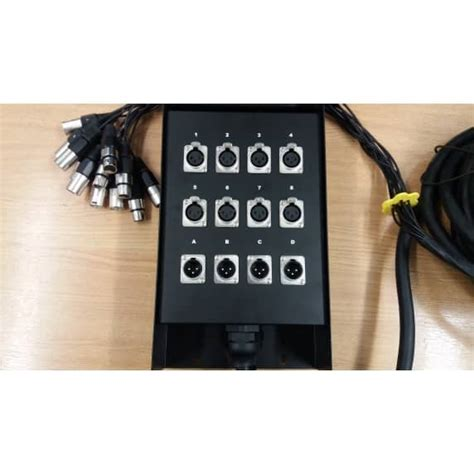 Speaker Rcf 15 Inc Rcf L15p400 Grade A pulse xlr multicore stagebox 8in 4out 15m b stock pulse from inta audio uk