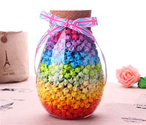 Jar Of Origami - origami paper colorful paper strips by