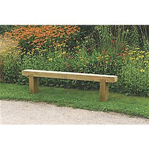 screwfix bench forest sleeper garden bench pressure treated softwood 1800