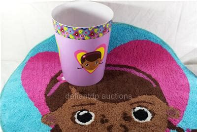 doc mcstuffins rug 2 disney doc mcstuffins bath collection bath rug waste basket new ebay