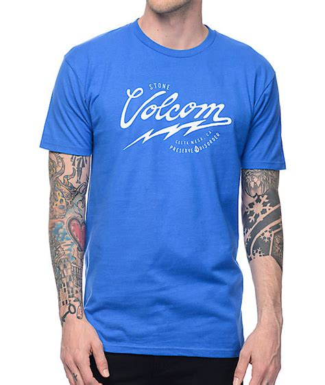 T Shirt Volcom Blue volcom seal royal blue t shirt at zumiez pdp