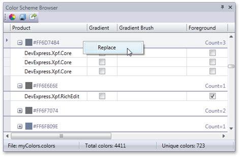 theme editor devexpress color scheme browser wpf general wpf theme editor