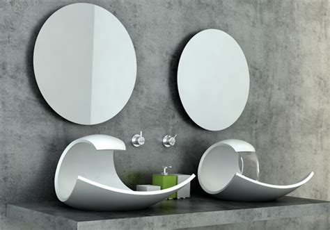 unusual bathroom basins what a wave yanko design