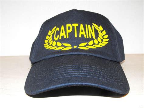 captain navy cotton adjustable baseball hat cap boating