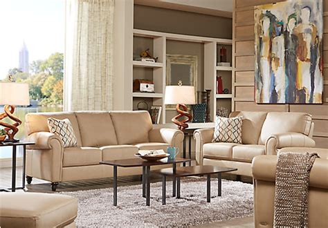 Taupe Living Room Furniture Home Lusso Taupe Leather 3 Pc Living Room Leather Living Rooms Beige