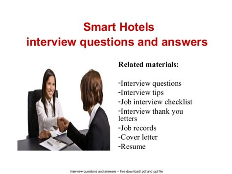 smart hotels questions and answers