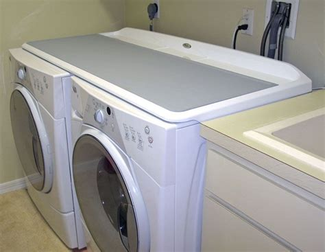 washer and dryer topper whirlpool washer dryer worksurface laundry room ideas