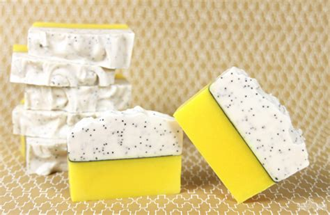 Cp Emon by Lemon Poppy Seed Cold Process Soap