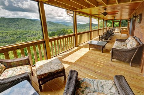 Cabin Porch by Deck Amp Porch Tour Above The Clouds Cabin Blue Ridge Ga