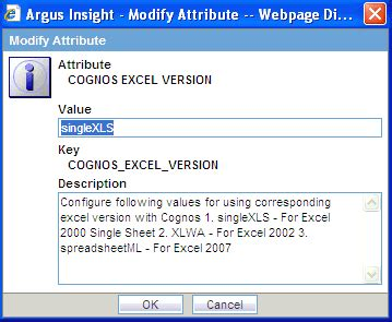excel 2007 data format in cognos using the administration tools