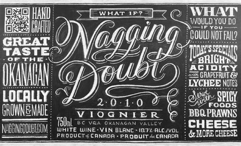 Promotion In Doubt Letter Nyc Letterology Sort Of A Chalky Wine Label