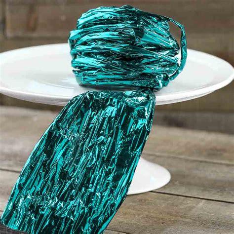 Paper Twist Crafts - teal metallic twist paper twist basic craft supplies