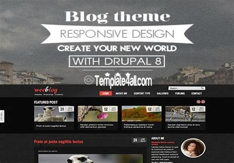 themes for drupal 8 personal magazine blog drupal 8 theme free download