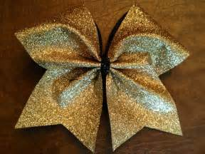 cheer bow gold glitter by fullbidbows on etsy
