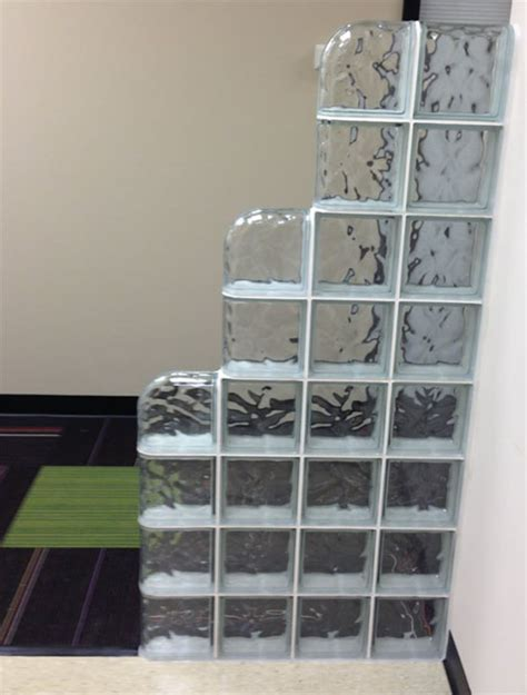 glass partition walls for home glass block partition or wall glass block wall for office